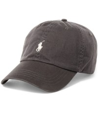 Polo Ralph Lauren Men's Big And Tall Chino Sports Cap Vintage Grey