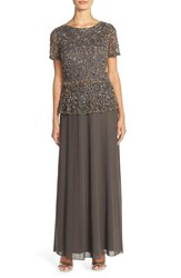 Women's Pisarro Nights Embellished Mesh And Chiffon Gown