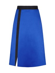 Hotsquash Silky A Line Skirt In Clever Fabric Royal Blue