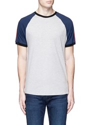 Topman Raglan Sleeve T Shirt Grey