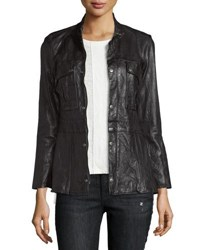 Frame Vintage Leather Jacket Noir Black