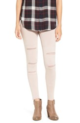 Women's Bp. Mesh Inset Leggings Pink Sphinx