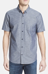 Patagonia 'Bluffside' Slim Fit Organic Cotton Sport Shirt Chambray Navy Blue