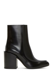 Marni Block Heeled Ankle Boots Black