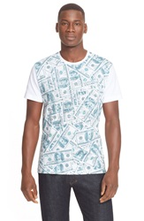 Versace 'Here To Party' Money Print T Shirt White