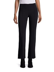 The Row Beca Scuba Cropped Flared Pants Black