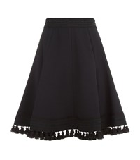Andrew Gn Pompom Trim Skirt Female Black
