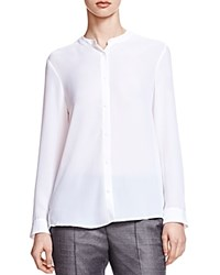 The Kooples Crepe Button Up Shirt White