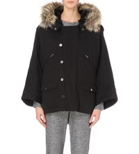 The Kooples Cotton Parka Coat Black