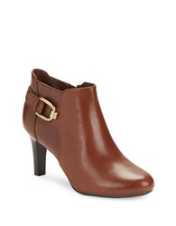 Bandolino Layita Leather Ankle Booties Cognac