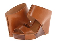 Trask Riki Saddle Tan Italian Calfskin Women's Wedge Shoes