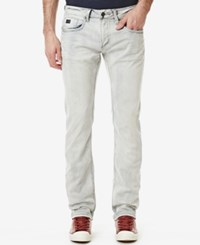 Buffalo David Bitton Men's Ash X Skinny Fit Bleached Jeans Bleached And Sanded