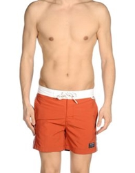 Woolrich Swimming Trunks Rust