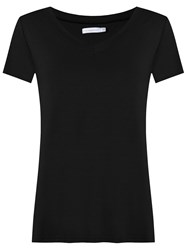 Lygia And Nanny V Neck T Shirt Black