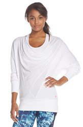 Women's Pink Lotus 'Downtown' Modal And Cotton Tunic White