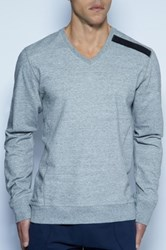 C In2 Cafe Vee Sweater Gray