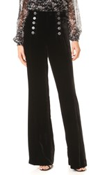 Nanette Lepore Velvet Sailor Pants Black