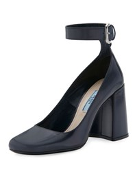 Prada Leather Ankle Wrap 85Mm Pump Baltic Baltico