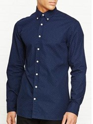 Hackett Floating Square Print Shirt Navy