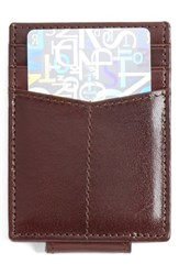 Men's Johnston And Murphy Leather Money Clip Card Case