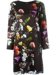 Adam By Adam Lippes Adam Lippes Floral Print Shift Dress Black