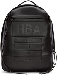 Hood By Air Black Leather Moma Zenith Backpack