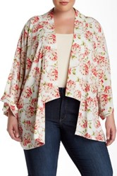 Pleione Floral Bed Jacket Plus Size Pink