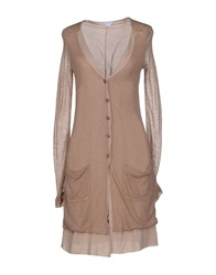Cardigans Light Brown