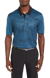 Adidas Men's Relaxed Fit Graphic Climachill Golf Polo