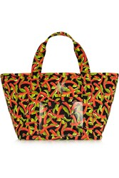 Charlotte Olympia Ami Printed Canvas Tote Red