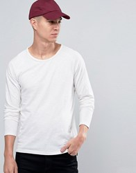 Selected Long Sleeve T Shirt In White White