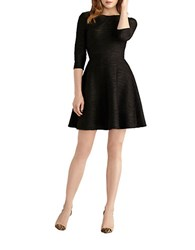 Donna Morgan Pleated Fit And Flare Dress Black Gold