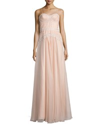 Mignon Embellished Bustier A Line Gown Blush