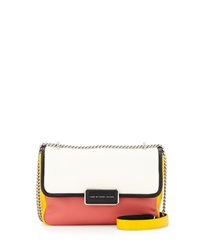 Marc By Marc Jacobs Rebel 24 Colorblock Crossbody Bag White Birch Multi