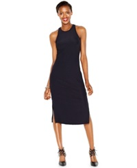 Bar Iii Ribbed Midi Bodycon Dress Black