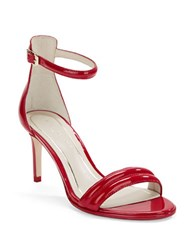 Kenneth Cole Mallory Patent Leather Sandles Red