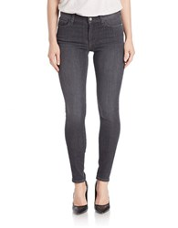 French Connection Stretch Cotton Skinny Jeans Charcoal