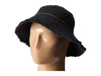 Lauren Ralph Lauren Cotton Sunwashed Canvas Bucket Hat Black Bucket Caps