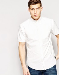 Only And Sons Short Sleeve Oxford Shirt Starwhite