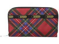 Le Sport Sac Lily Cozy Plaid Red Checkbook Wallet
