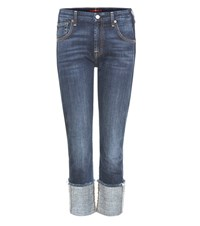 7 For All Mankind Fashion Boyfriend Jeans Blue