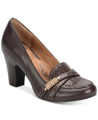 Sofft Montara Crisscross Strap Pumps Women's Shoes Coffee