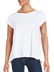 Saks Fifth Avenue Red Roundneck Cotton Tee White