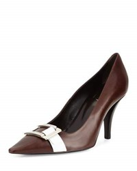 Roger Vivier Buckle Strapped Leather Pump 3237 S805b