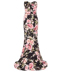 Dolce And Gabbana Printed Silk Gown Multicoloured