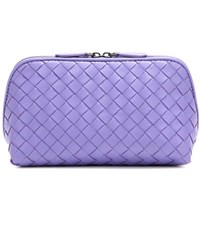 Bottega Veneta Intrecciato Leather Cosmetic Case Purple