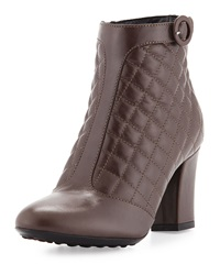 Aquatalia By Marvin K Harriet Quilted Leather Bootie Mushroom