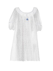 Thierry Colson Eva Porcelain Print Cotton Dress White
