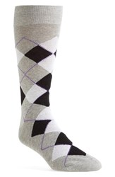 Lorenzo Uomo Men's Argyle Socks Heather Grey