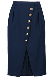 Elisabetta Franchi Pencil Skirt Blu Notte Dark Blue